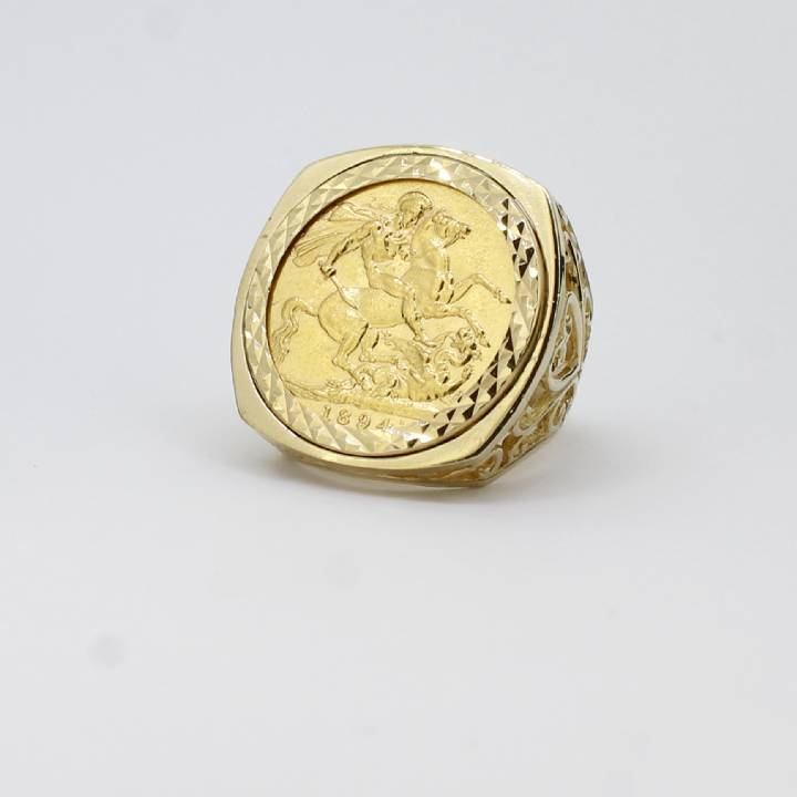 Pre-Owned Yellow Gold  1894 Full Sovereign Ring