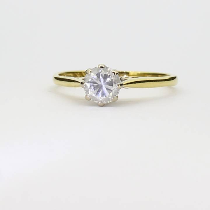 Pre Owned 18ct Yellow Gold Diamond Solitaire Ring