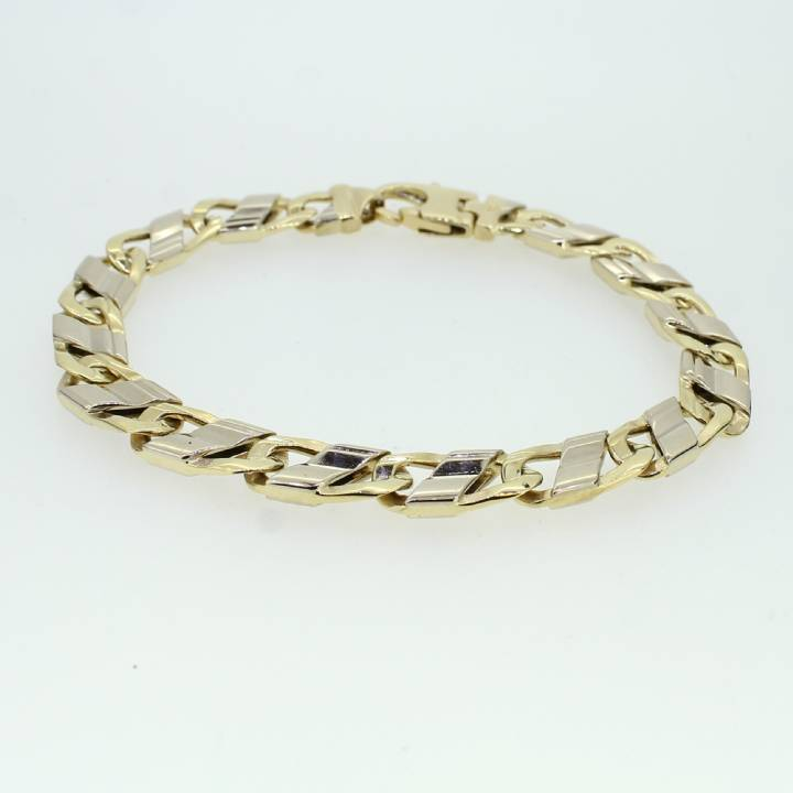 Pre-Owned Gents 14ct Gold Oval Link Bracelet