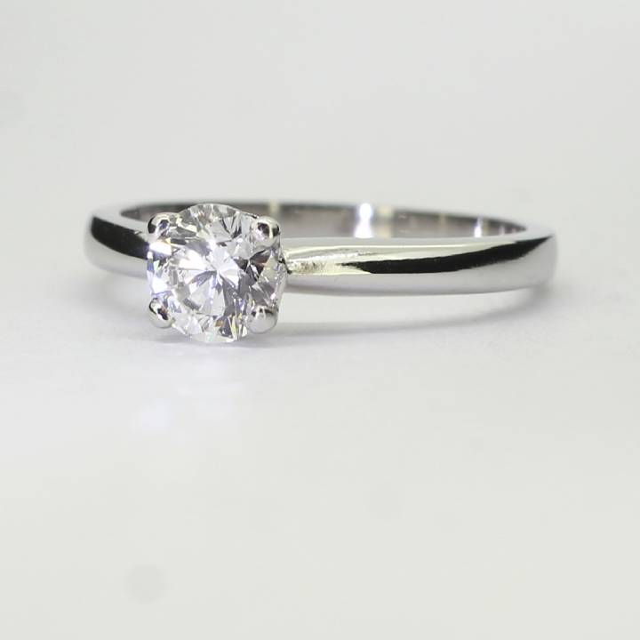 Pre-Owned Platinum Diamond Solitaire Ring 0.70ct 1601904