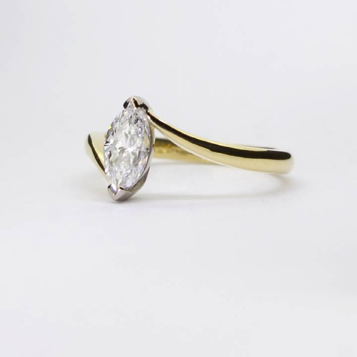Pre-Owned 18ct Yellow Gold Diamond Solitaire Ring 0.50ct 1601914