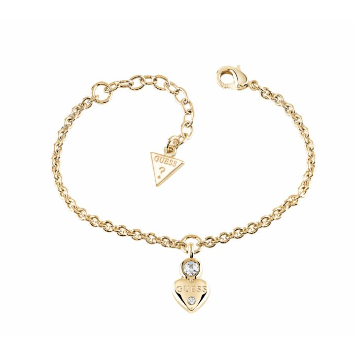 Guess Gold Plated Little Heart Crystal Bracelet, was £39.00 1401599