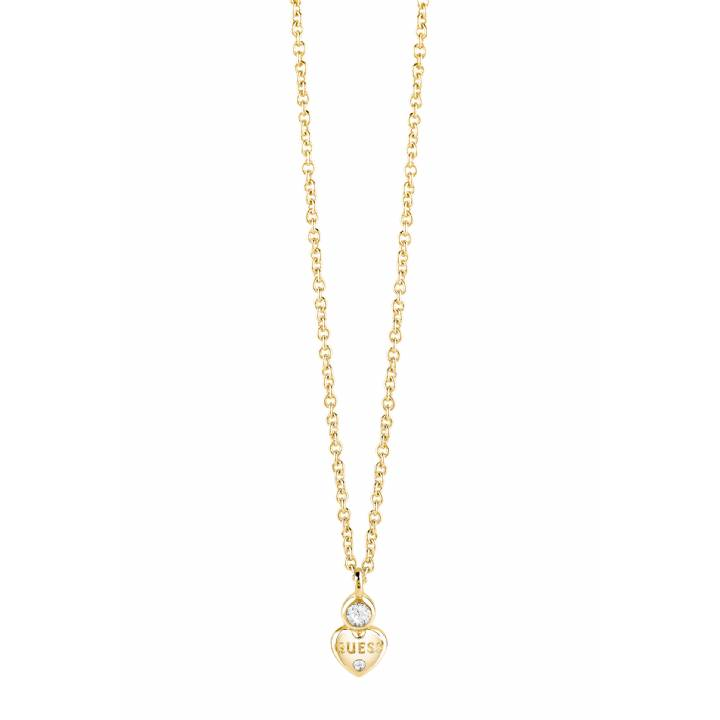 Guess Gold Plated Little Heart Crystal Necklace, Was £49.00 1401606