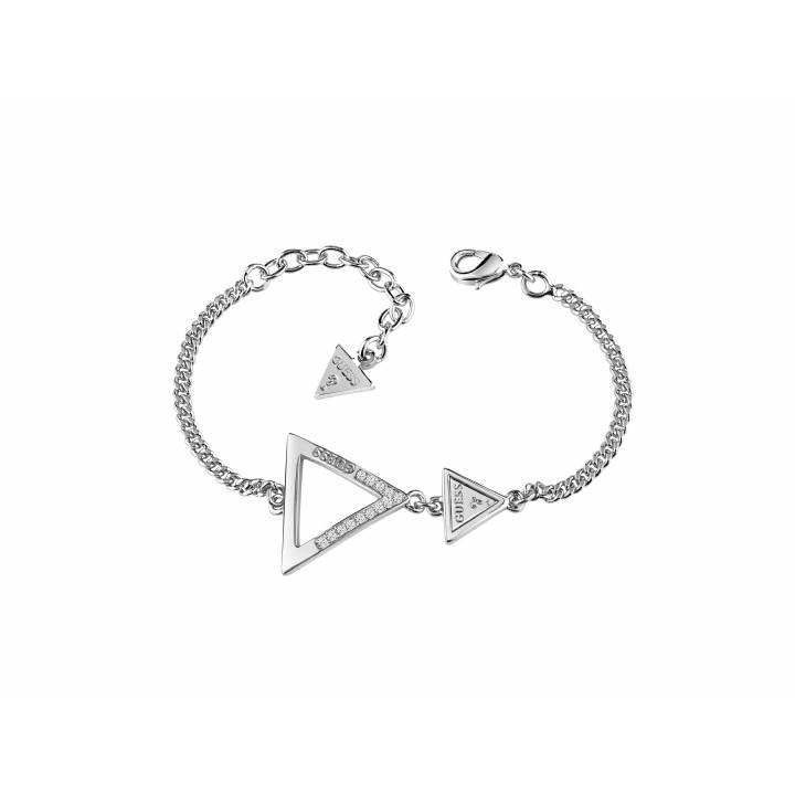 Guess Rhodium Plated Iconic 3 Angles Bracelet, Was £49.00