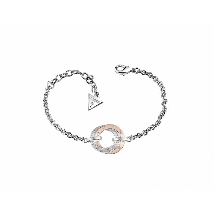 Guess Rhodium Plated E-Motions Bracelet, Was £49.00