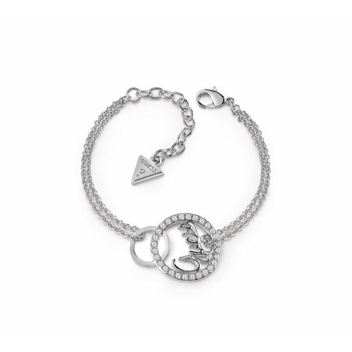 Guess Rhodium Plated Authentics Bracelet, Was £39.00 1401687