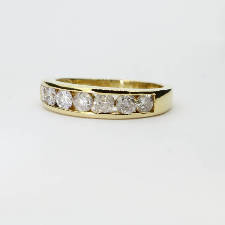 Pre-Owned 18ct Yellow Gold Diamond Half Eternity Ring 0.75ct 7103025