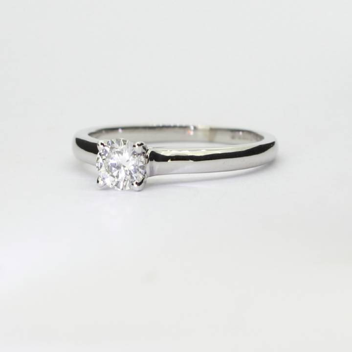 Pre-Owned 18ct White Gold Diamond Solitaire Ring 0.50ct 1601878