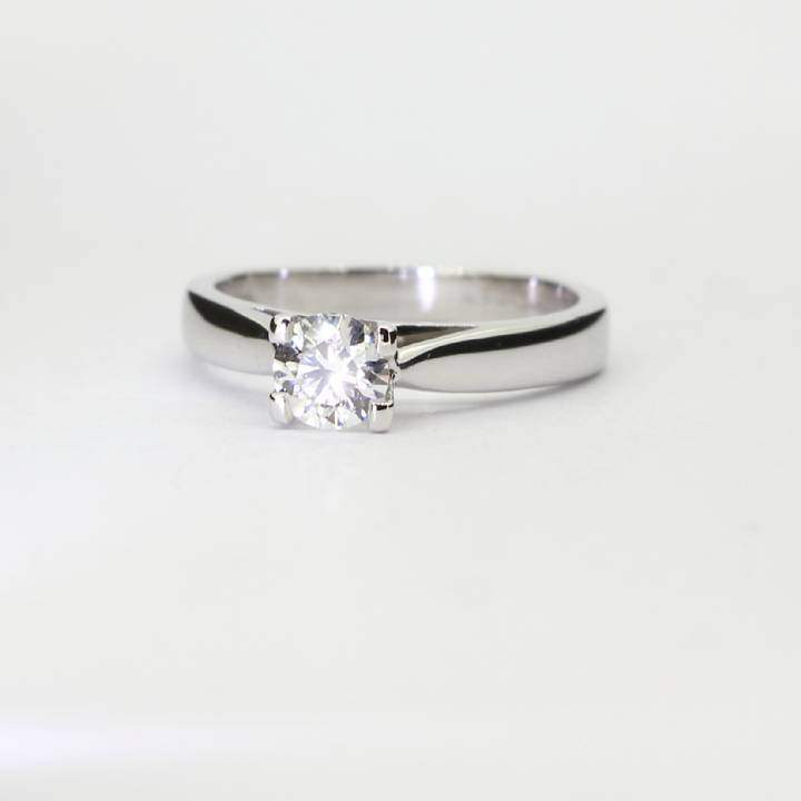 Pre-Owned 18ct White Gold Diamond Solitraire Ring 0.37ct 1601907