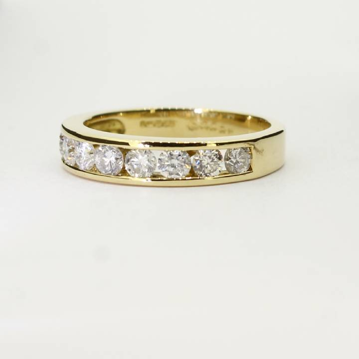 Pre-Owned 18ct Yellow Gold Diamond Half Eternity Ring 1.00ct 7103026
