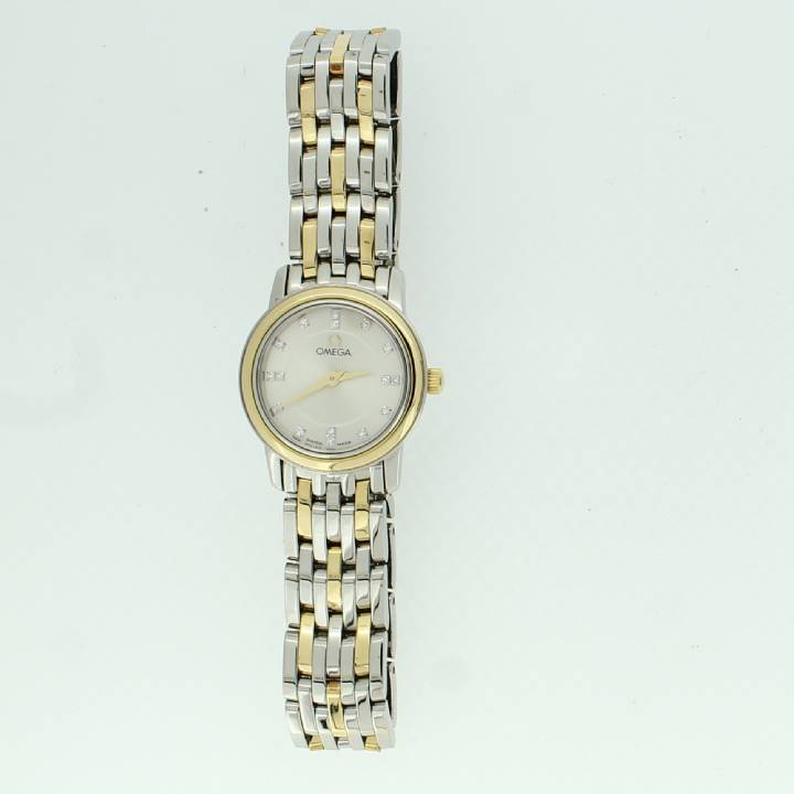 Pre-Owned Ladies De Ville Bi-Colour Watch, Silver Dial 7205045