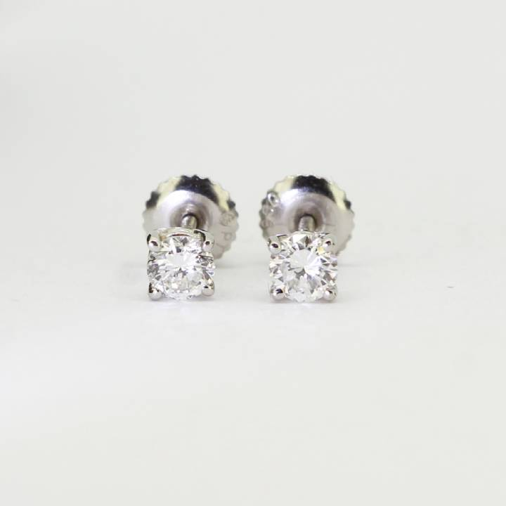 Pre-Owned Platinum Diamond Solitaire Stud Earrings 0.46ct Total 1607457