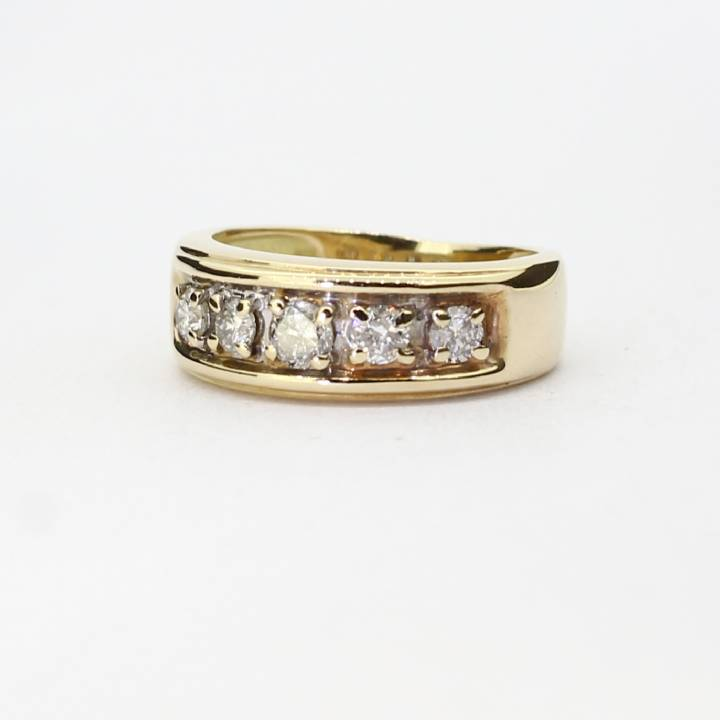 Pre-Owned 18ct Yellow Gold 5 Stone Band Ring 0.50ct Total 1604888