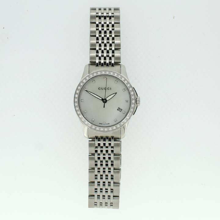 Pre-Owned Gucci Ladies G-Timeless Diamond Set Watch