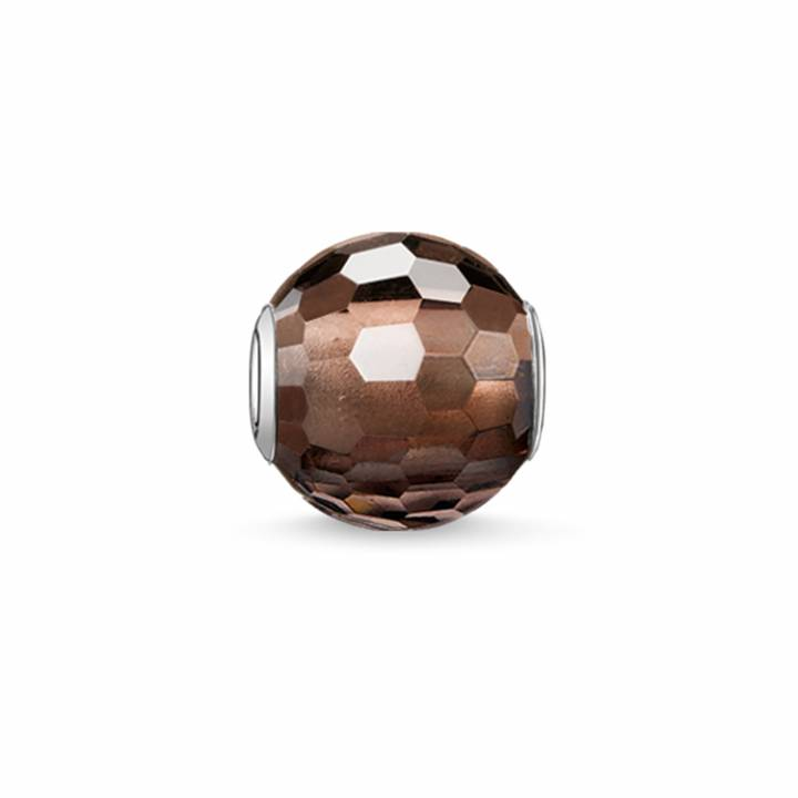 Thomas Sabo Smokey Quartz Faceted Karma Bead, Was £19.00 2314113