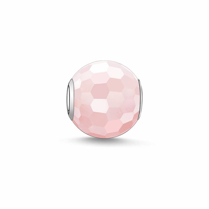 Thomas Sabo Faceted Rose Quartz Karma Bead, Was £19.00