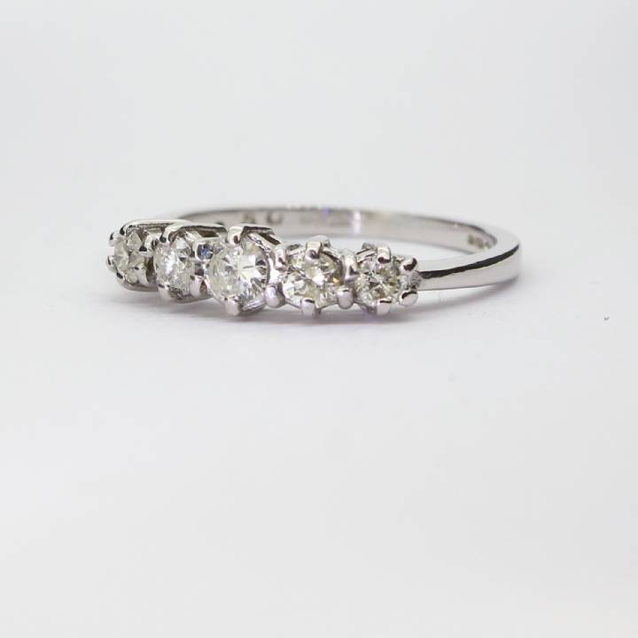 Pre-Owned Platinum Diamond 5 Stone Ring 0.50ct Total 1604898