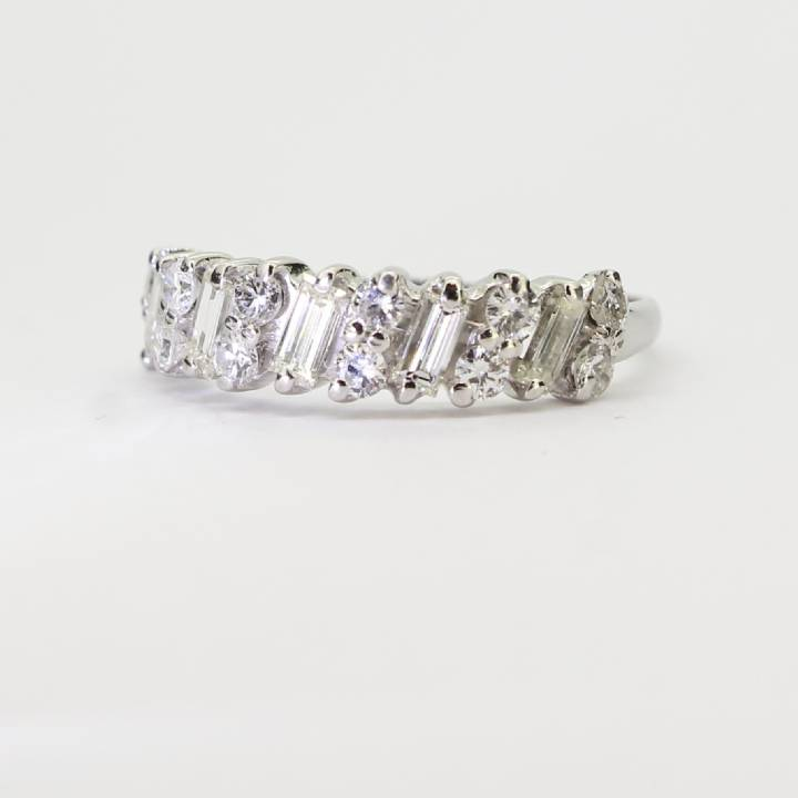 Pre-Owned White Gold Diamond Half Eternity Ring 1.00ct Total 1603273