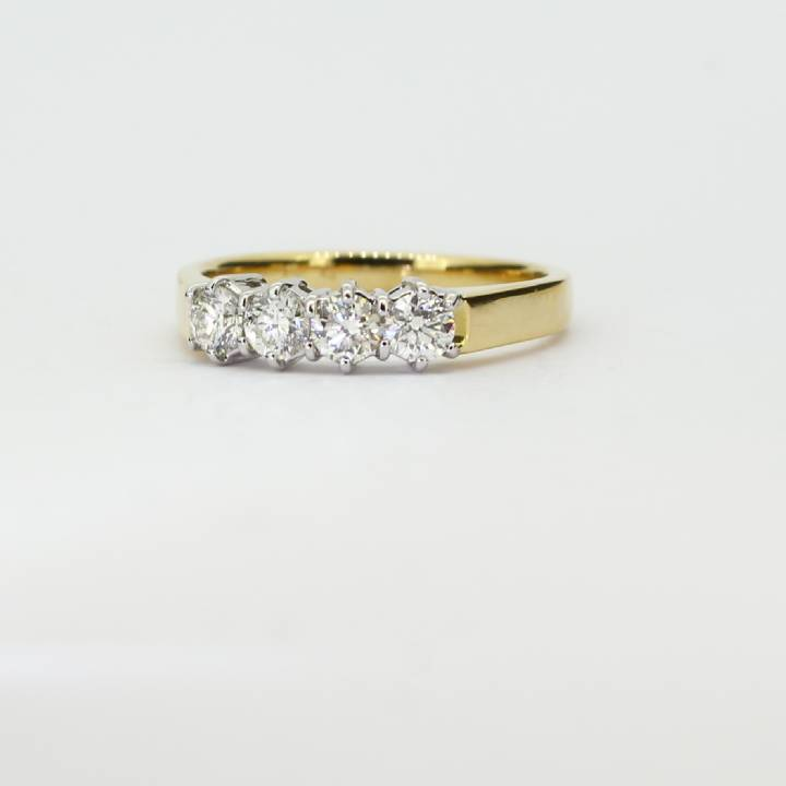 18ct Yellow Gold Diamond 4 Stone Ring 0.54ct Total 0526237