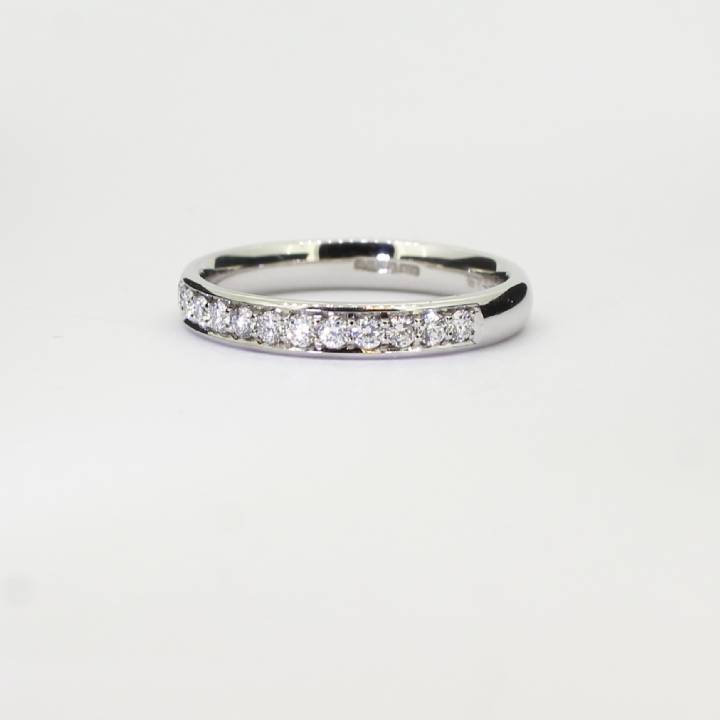 Pre-Owned Platinum Diamond Half Eternity Ring 0.30ct Total