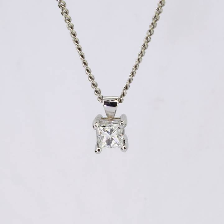 Pre-Owned Diamond Solitaire Pendant 0.53ct 1607495