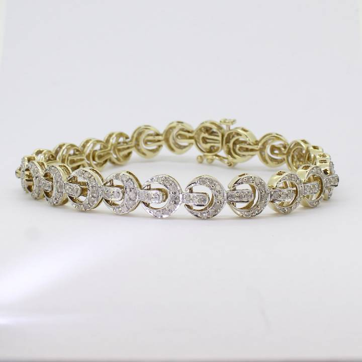 Pre-Owned 9ct Yellow Gold Diamond Bracelet 2ct