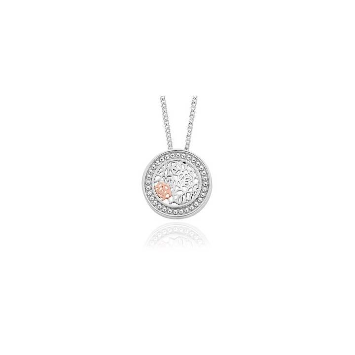 Clogau Royal Roses Silver & Gold Pendant & Chain, Was £129.00 1415060