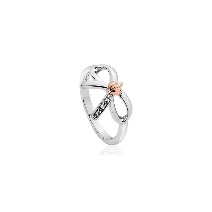 Clogau Silver, Gold & Diamond Tree of Life Bow Ring, Was £119.00