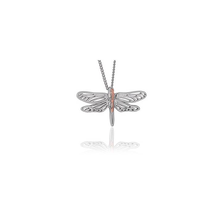 Clogau Silver & Gold Damselfly Pendant & Chain, Was £139.00