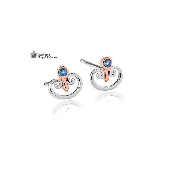 Clogau Kensington Palace Blue Topaz Stud Earrings, Was £99.00