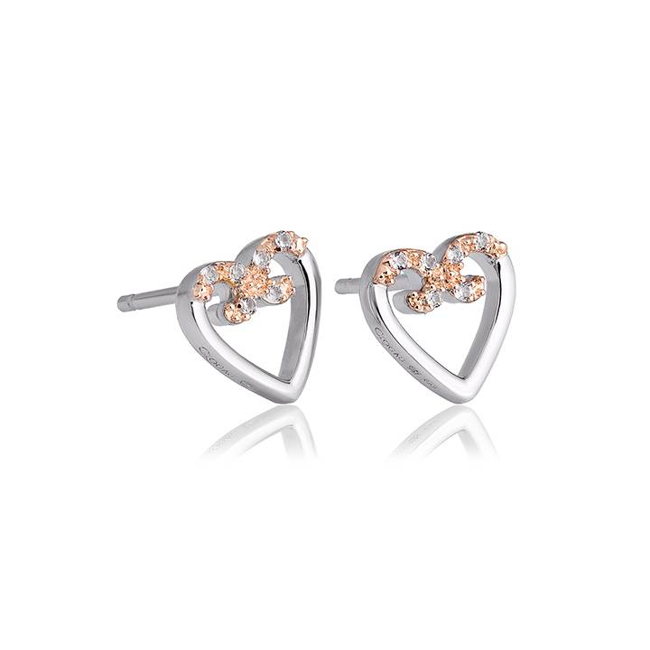 Clogau Affinity White Topaz Stud Earrings, Was £99.00