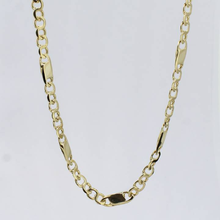 Pre-Owned 9ct Yellow Gold Fancy Link Chain 22