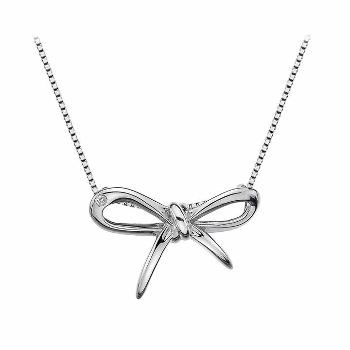 Hot Diamonds Flourish Bow Pendant & Chain, Was £69.95