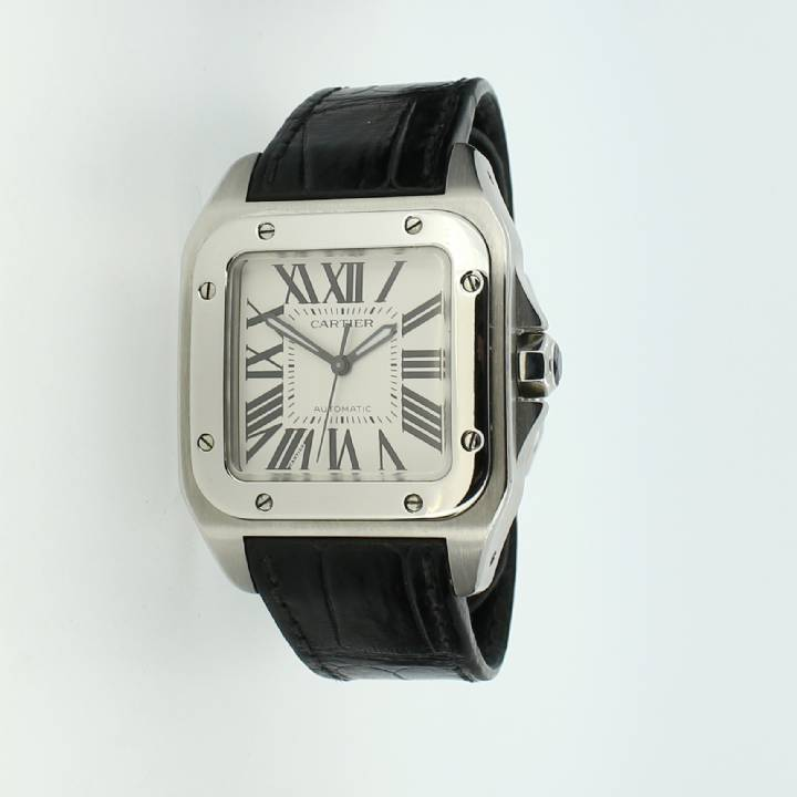 Pre-Owned Cartier Santos 100 Watch 36mm, Original Papers 1702315