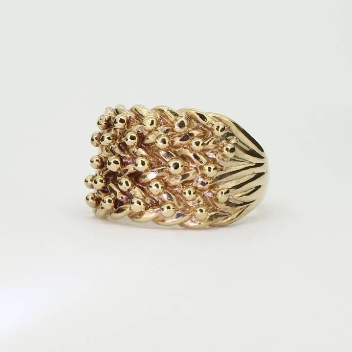 Pre-Owned Gents 9ct Yellow Gold 5 Row Keeper Ring