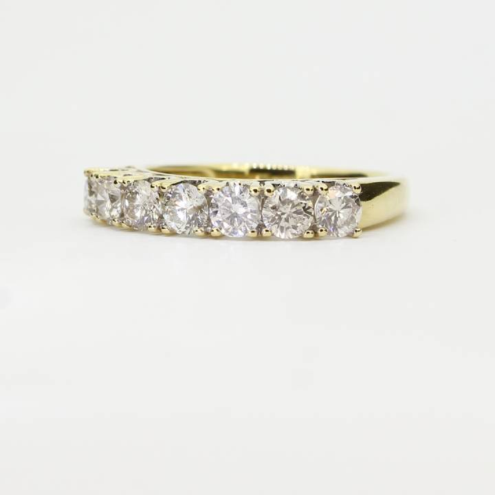 Pre-Owned 18ct Yellow Gold Diamond Half Eternity Ring 1.05ct 1603278