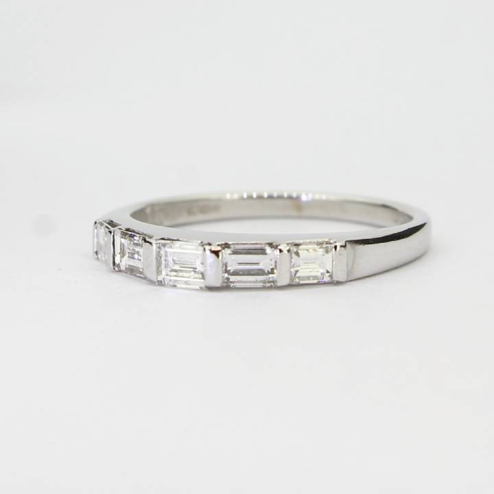 Pre-Owned 18ct White Gold Diamond Half Eternity Ring 0.69ct 7103029
