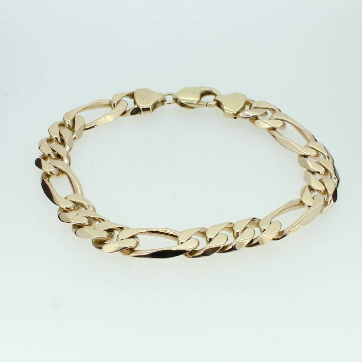 Pre-Owned Gents 9ct Yellow Gold Figaro Bracelet