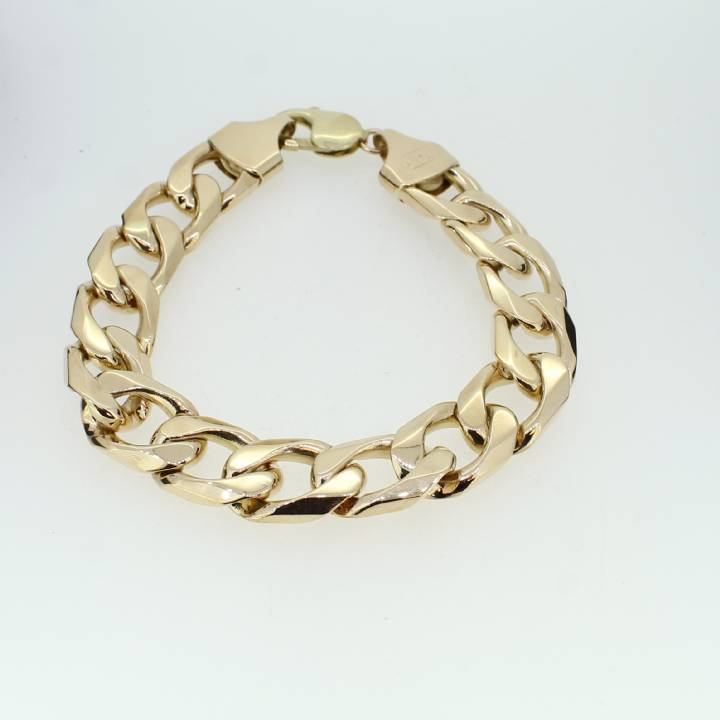 Pre-Owned Gents 9ct Yellow Gold Curb Bracelet 1505150