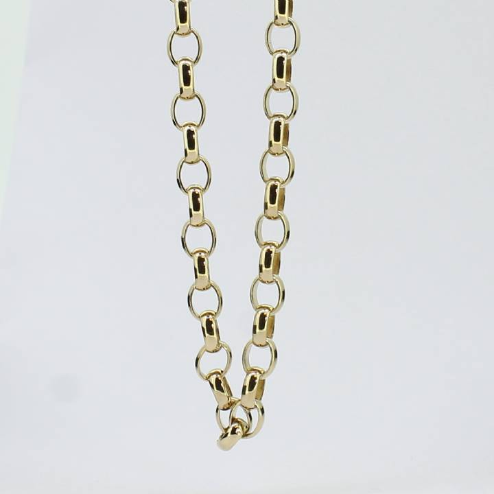 Pre-Owned 9ct Yellow Gold Oval Belcher Chain Approx. 24