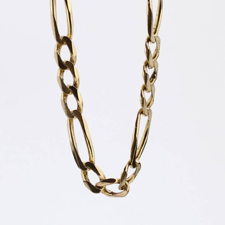 Pre-Owned 9ct Yellow Gold Figaro Chain Approx. 22
