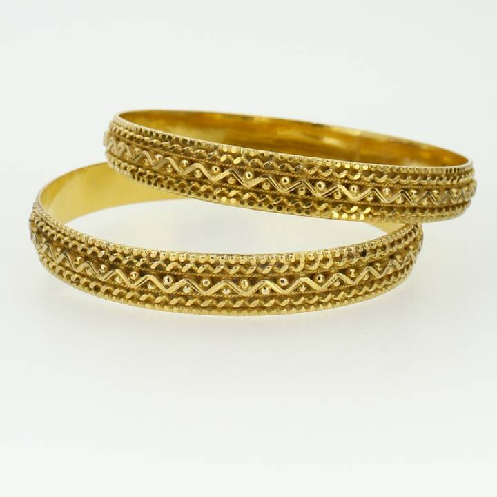 Pre-Owned 22ct Yellow Gold Twin Set Bangles