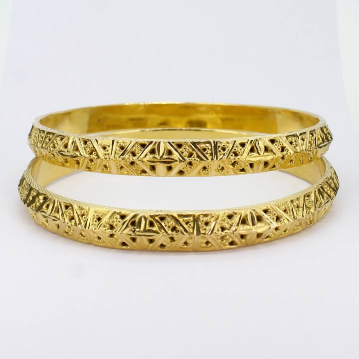 Pre-Owned 22ct Yellow Gold Bangles Twin Set