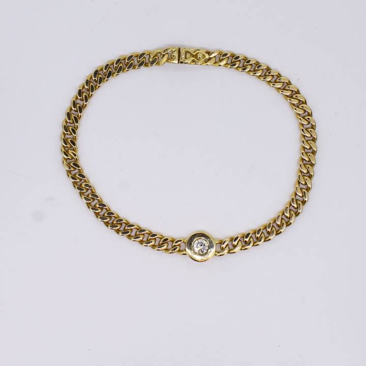 Pre-Owned 18ct Yellow Gold Diamond Bracelet 0.20ct total 1607498