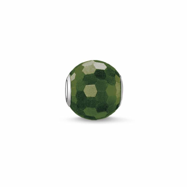 Thomas Sabo Faceted Green Heliotrope Karma Bead, Was £19.00 2314118