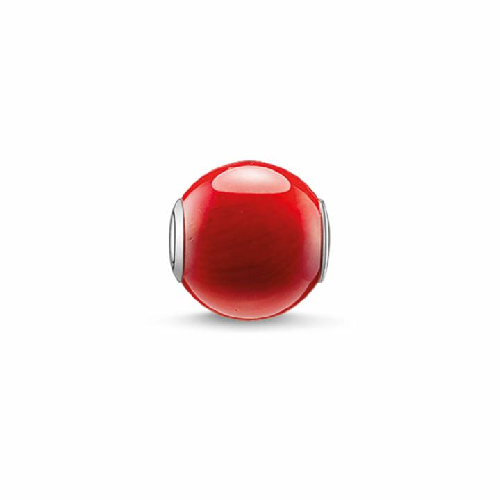Thomas Sabo Silver Red Karma Bead, Was £19.00