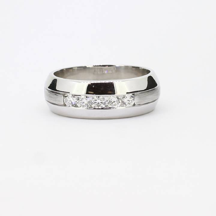 Pre-Owned 18ct White Gold Diamond Band Ring Total 0.50ct 1602057