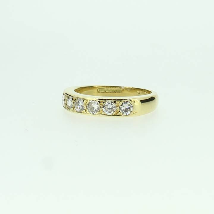 Pre-Owned 18ct Yellow Gold Diamond Half Eternity Ring 0.60ct