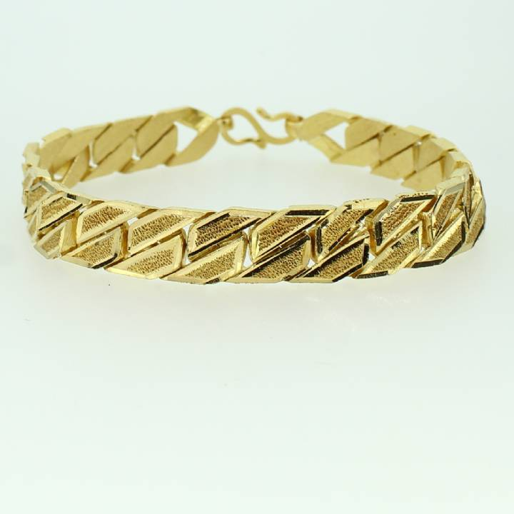 Pre-Owned 22ct Yellow Gold Curb Bracelet 7022117