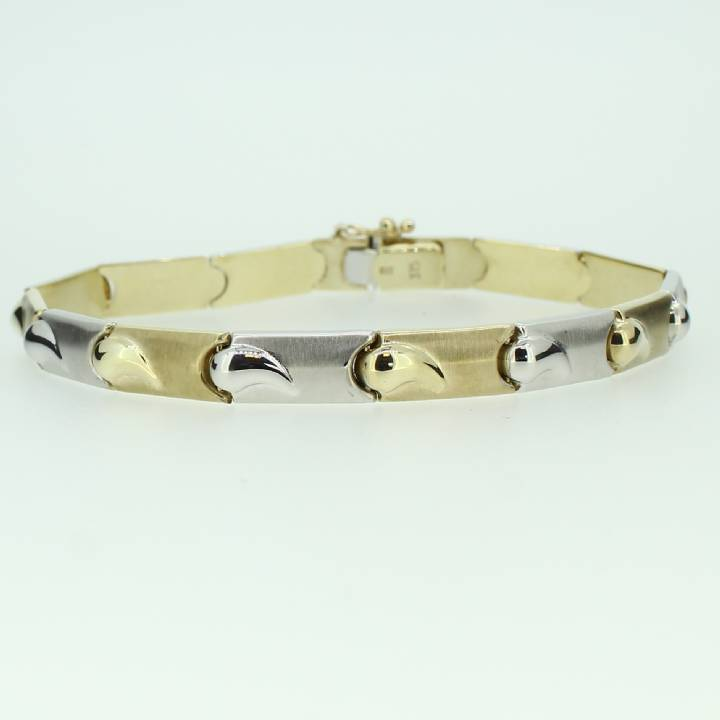 Pre-Owned 9ct 2 Colour Gold Fancy Bracelet